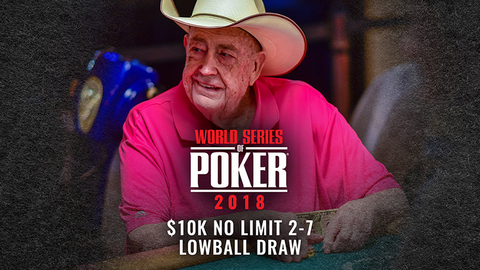 WSOP 2018 $10K No Limit 2-7 Lowball Draw