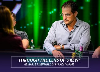 Brandon Adams in action during the Super High Roller Cash Game inside the PokerGO Studio.