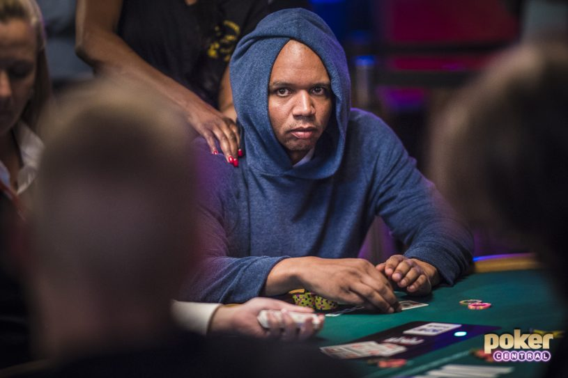 Phil Ivey in action during the 2018 World Series of Poker.