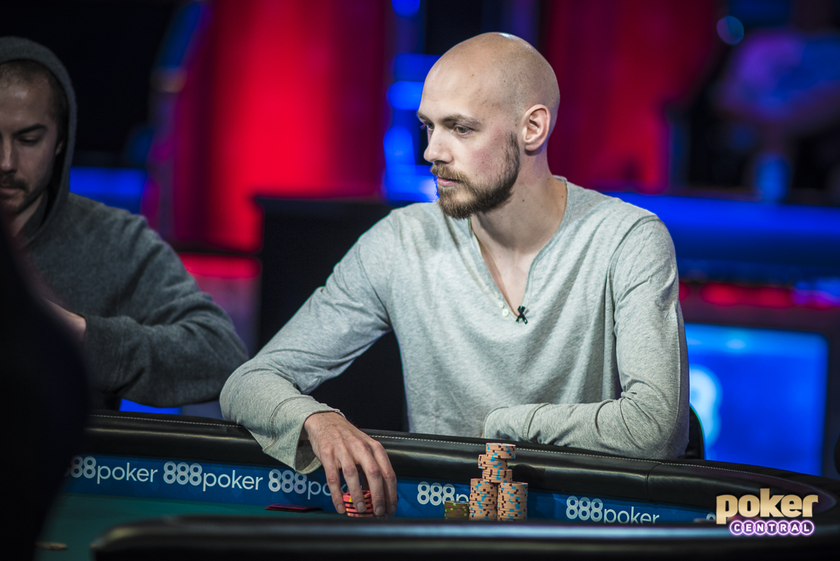 Stephen Chidwick during the $50,000 Poker Players Championship in 2018.