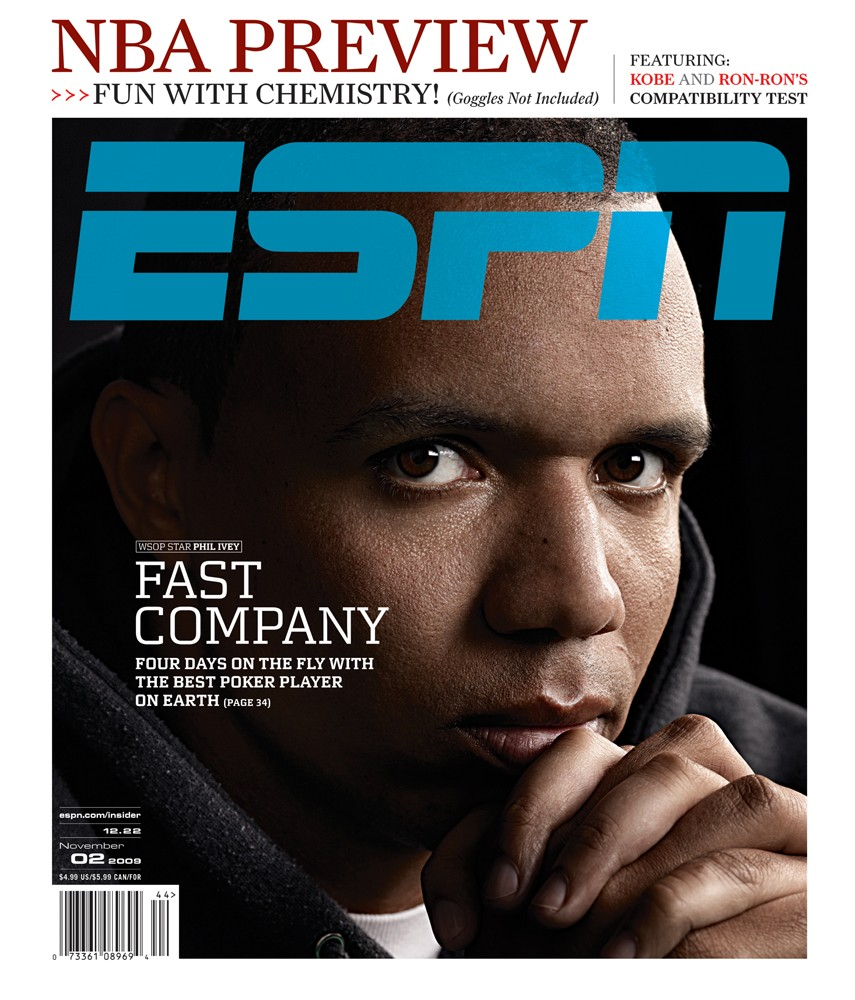 Phil Ivey on the cover of ESPN The Magazine just a few days prior to the 2009 November Nine.