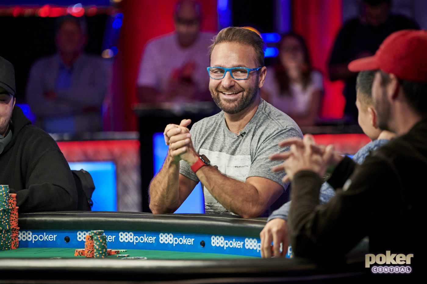 Daniel Negreanu was all smiles despite busting in sixth place at the final table of Event #1.