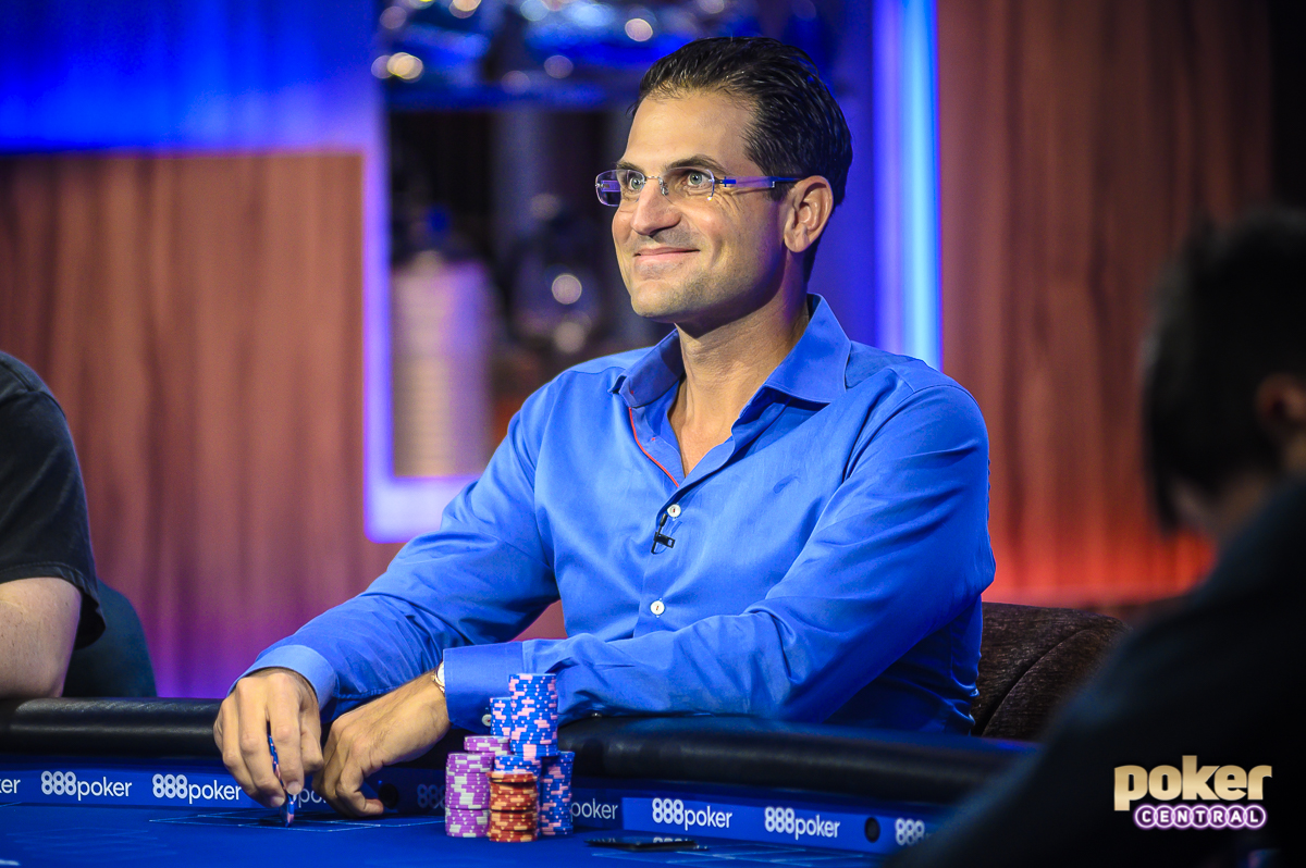 Brandon Adams in action during the 2019 US Poker Open.