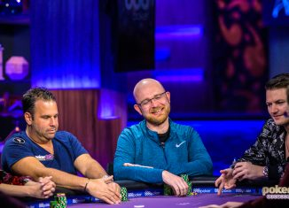 Dylan Linde in action during Run it Once week on Poker After Dark.
