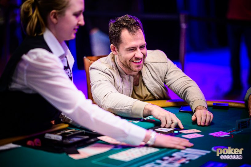 Dreaming Daniel Cates is relaxed in the $50,000 Poker Players Championship because he already knows that he's going to win.