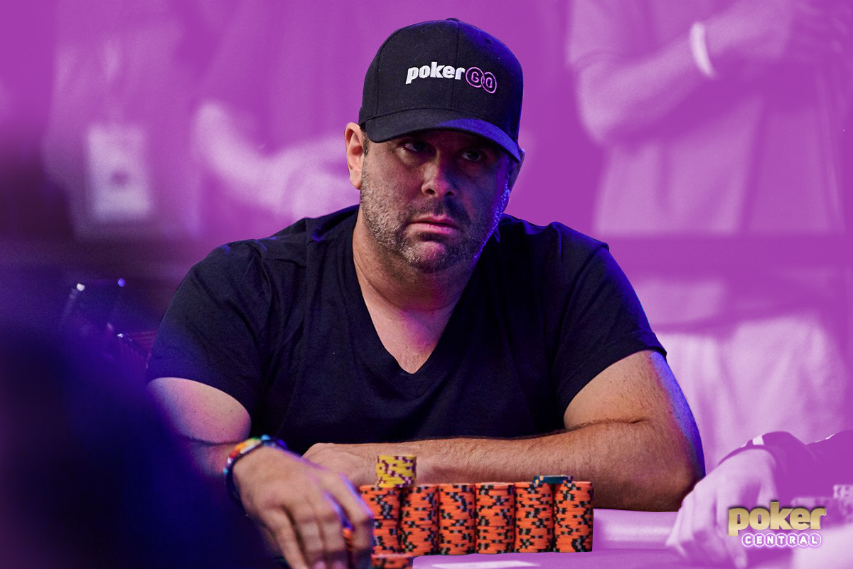 Randall Emmett on Day 3 of the $5,000 No Limit Hold'em event at the 2019 WSOP.