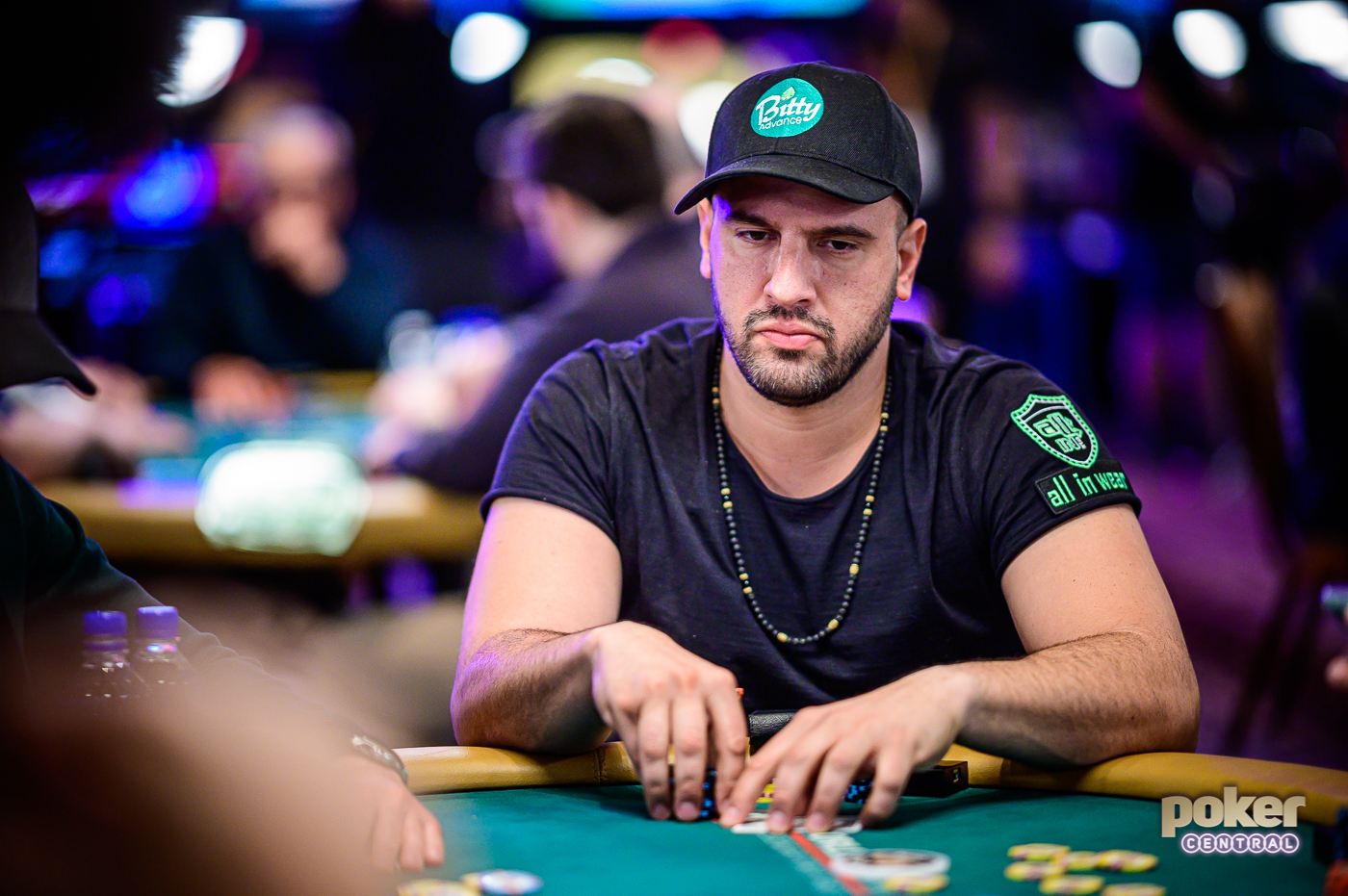 Michael Mizrachi in action during Day 1 of the $50,000 Poker Players Championship.