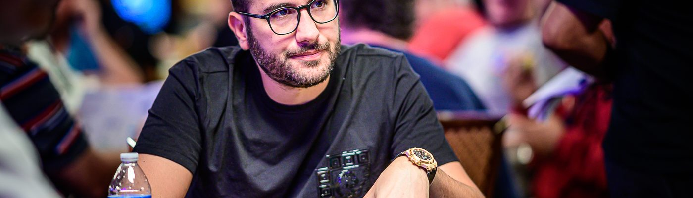 Dario Sammartino eyes his first World Series of Poker bracelet.