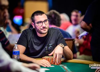 Dario Sammartino eyes his first World Series of Poker bracelet.