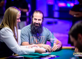 Jason Mercier all smiles playing the 2019 $50,000 Poker Players Championship.
