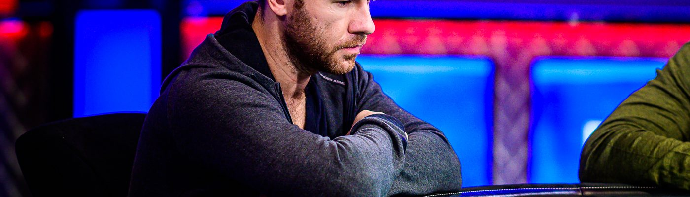 Daniel Cates at the feature table in the $50,000 Poker Players Championship.