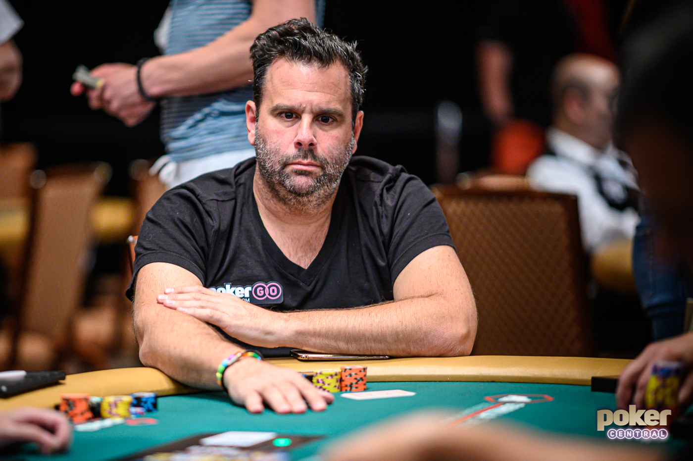 Focused and determined: Randall Emmett during the $5,000 No Limit Hold'em event at the 2019 WSOP.