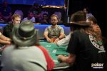 Daniel Negreanu at the final table of the $10,000 Razz Championship event.