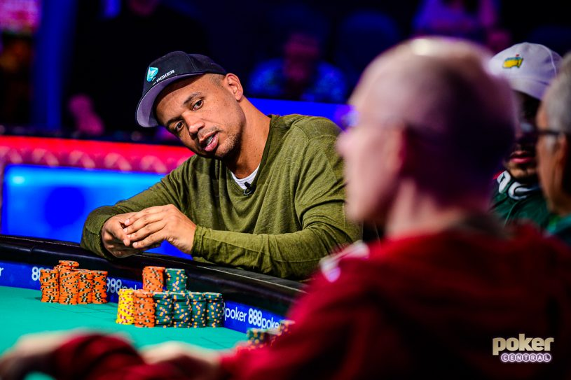 Phil Ivey at the feature table on Day 4 of the $50,000 Poker Players Championship.