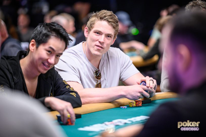 Alex Foxen in action during the $50,000 High Roller at the World Series of Poker.