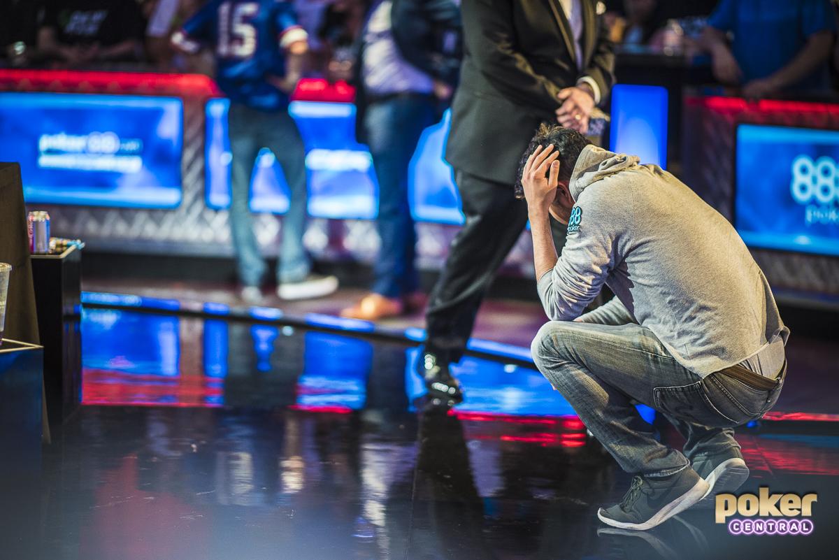 John Cynn in disbelief after winning the WSOP Main Event.