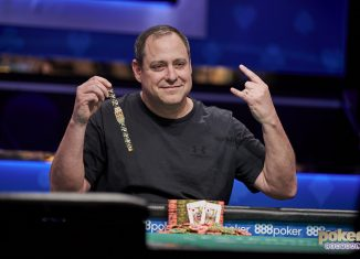 David 'ODB' Baker celebrated his second career WSOP bracelet win in 2019.