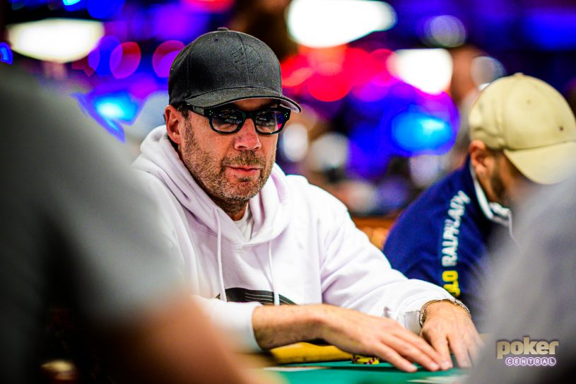 Andrew Shack on Day 5 of the WSOP Main Event.