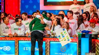 Garry Gates Stays Sane Riding a Wave of Support at the Main Event Final Table