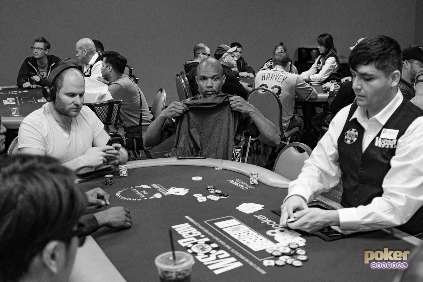 Moments before Phil Ivey's elimination from the 2019 WSOP Main Event.