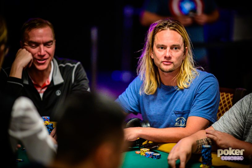 Eric Ethans on Day 1a of the 2019 WSOP Main Event.