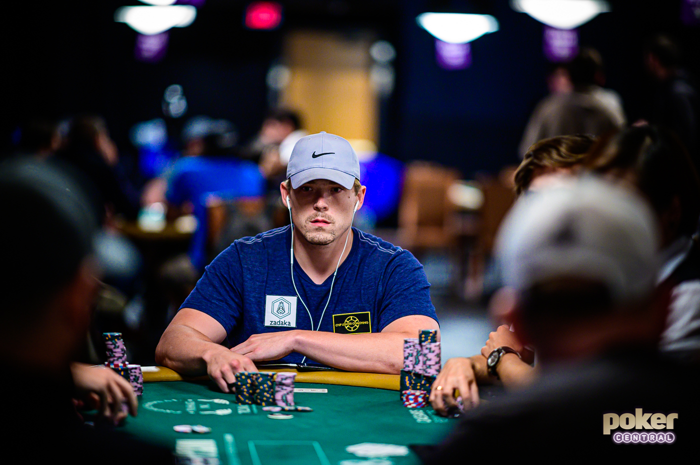 Alex Foxen just prior to getting eliminated late on Day 6 of the 2019 WSOP Main Event.
