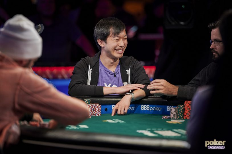 Chip leader Timothy Su is loving it in the 2019 WSOP Main Event.