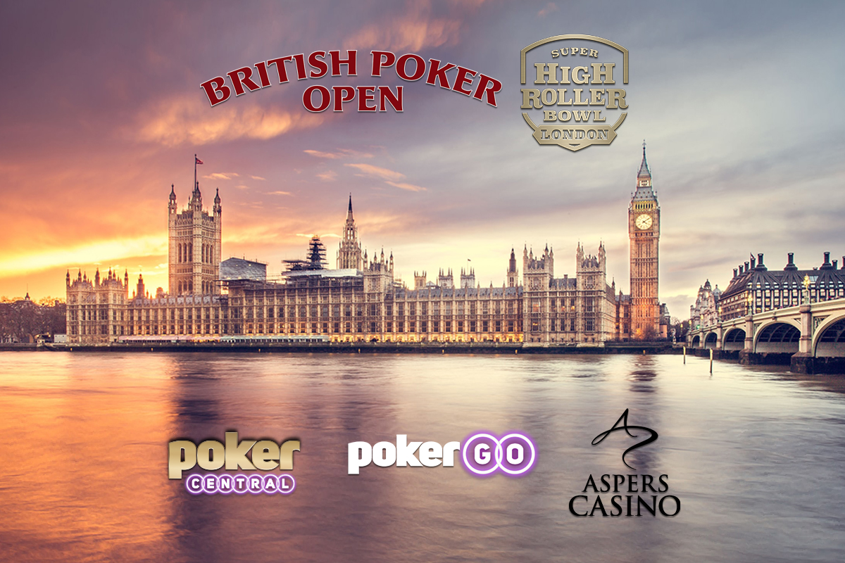The British Poker Open and Super High Roller Bowl London and coming to PokerGO in September!