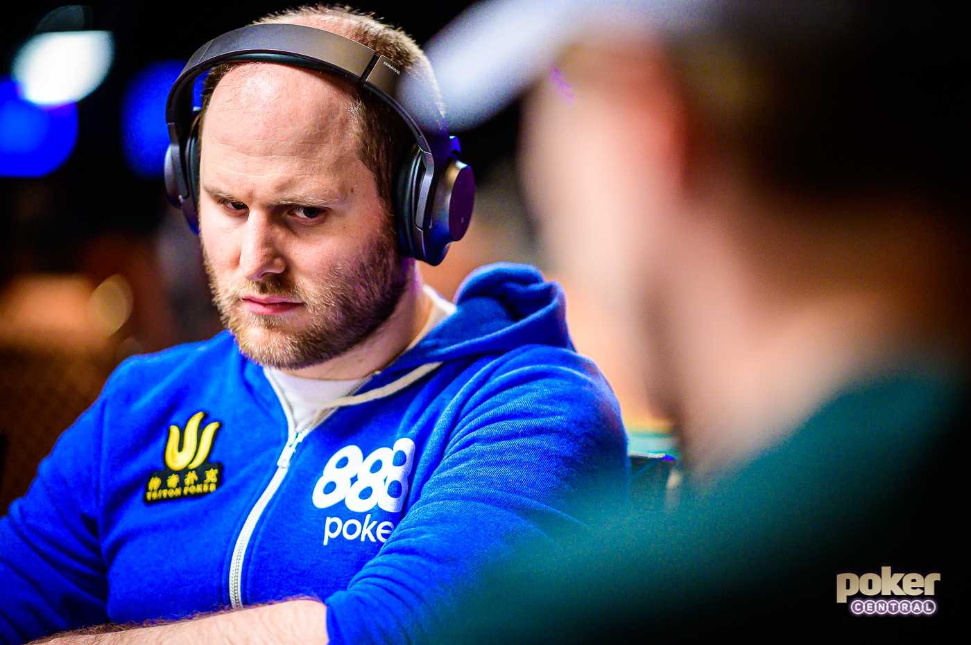Focused & Determined: Sam Greenwood is ready for a final table run in the Main Event.