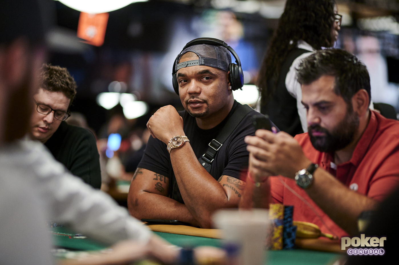 Former NFL star Richard Seymour competing in the world's biggest tournament for a chance to win $10 million.
