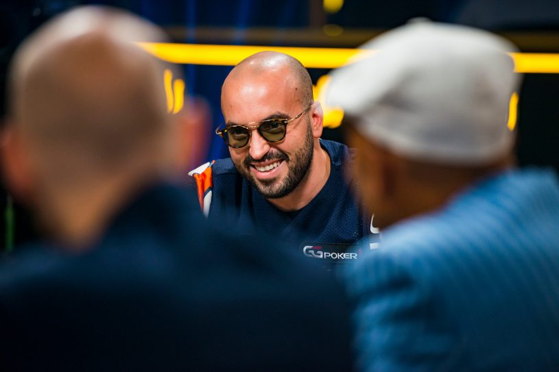 Bryn Kenney at the final table of the Triton Million facing Stephen Chidwick and Bill Perkins. (Photo: PokerPhotoArchive/Joe Giron)
