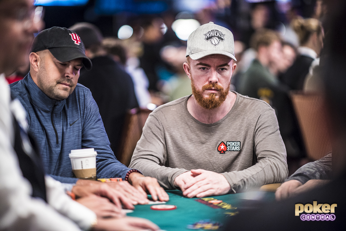 Jake Cody in action during the 2019 World Series of Poker Main Event.