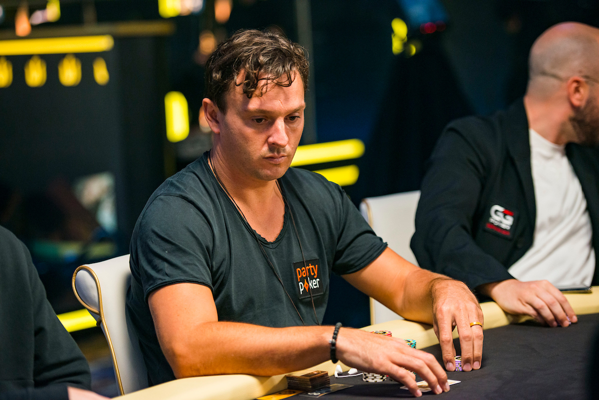 Sam Trickett in action during the Triton Million Day 1 action. (Photo: PokerPhotoArchive.com/Joe Giron)