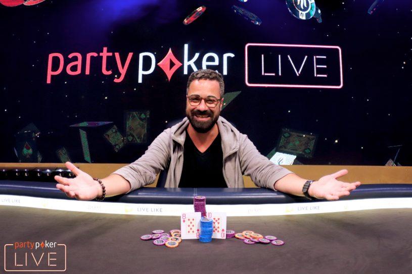 Orpen Kisacikoglu won the €100,000 Super High Roller at partypoker LIVE Europe for €1,040,000. (Image: partypoker)