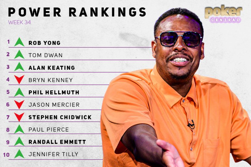 Paul Pierce makes his debut on the Poker Central Power Rankings after an entertaining debut on Poker After Dark!