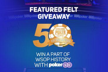 Watch & Win an Original 2019 World Series of Poker Table Felt
