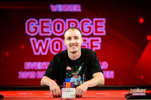 George Wolff after winning Event #2 of the British Poker Open.