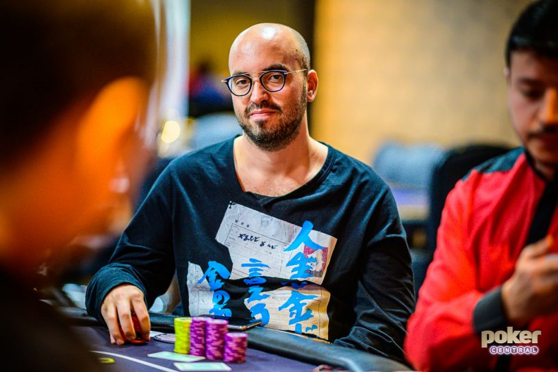 Bryn Kenney in action during Super High Roller Bowl London.