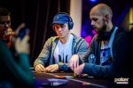 Ben Tollerne battling with Stephen Chidwick at the British Poker Open.