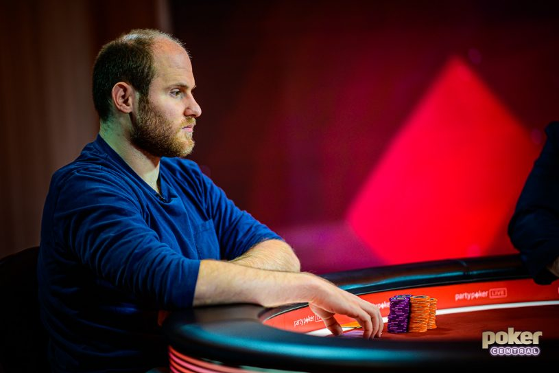 Sam Greenwood during the final table of the British Poker Open Short Deck event.