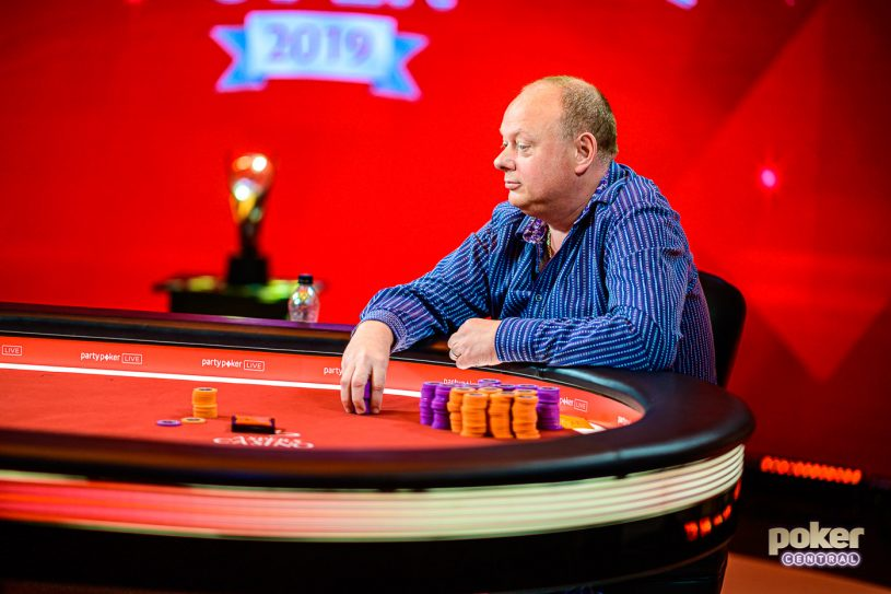 Paul Newey heads up for the British Poker Open title in Event #3.