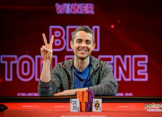 Ben Tollerene after winning British Poker Open Event #10 for £840,000.