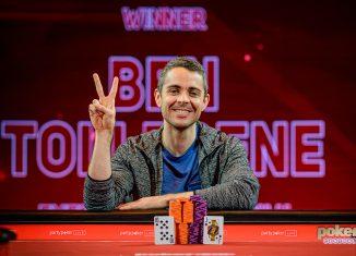 Ben Tollerene after winning British Poker Open Event #10 for £840,000.
