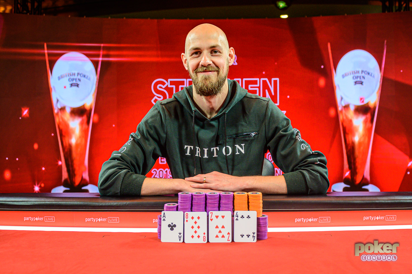 Stephen Chidwick was all smiles taking down the £25,000 Pot Limit Omaha event.