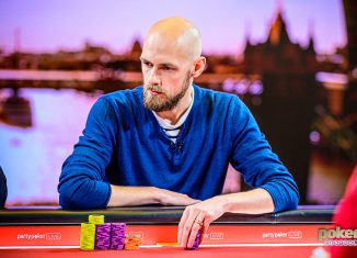 Stephen Chidwick in action during the British Poker Open.