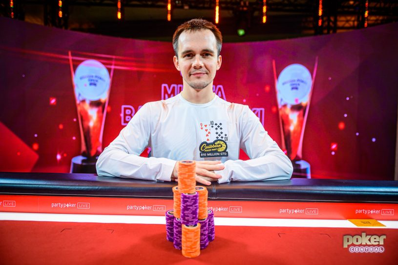 Mikita Badziakouski wins Event #9 of the British Poker Open.