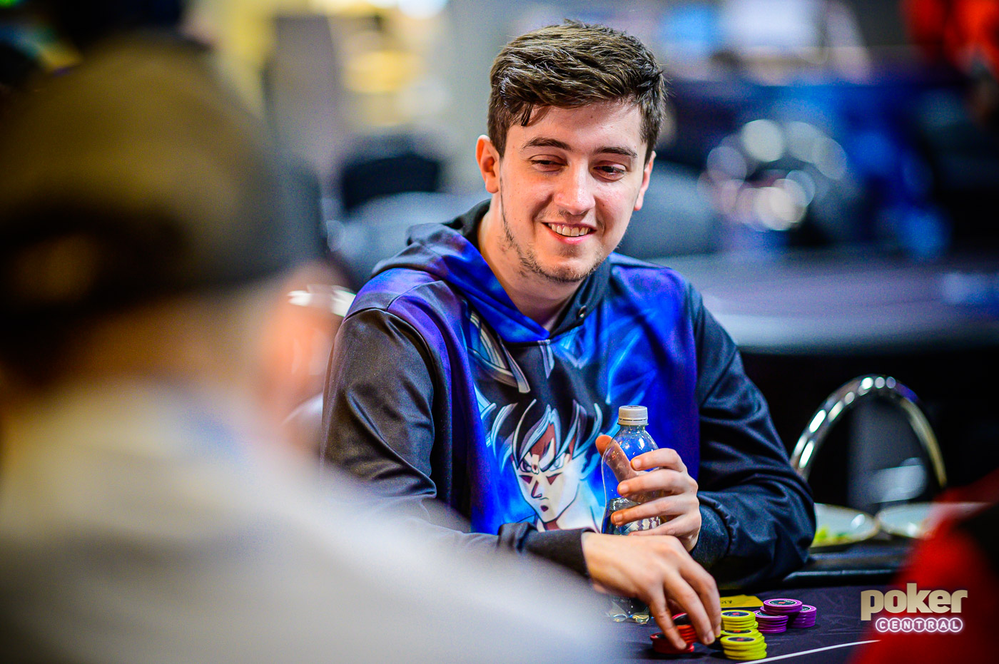 Reigning Poker Masters champion Ali Imsirovic during his first event of the British Poker Open.
