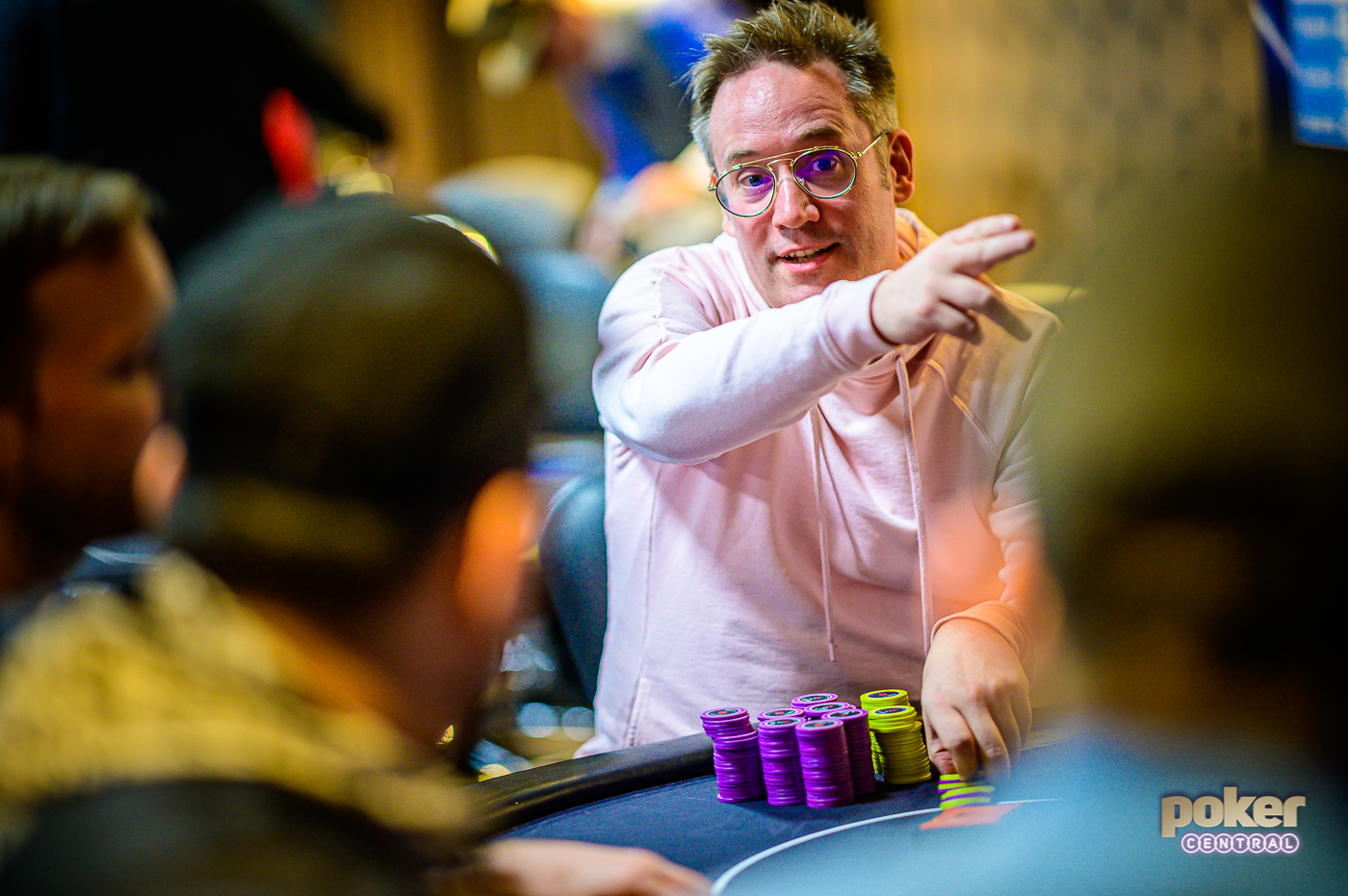 Sam Grafton shares the chip lead with Luc Greenwood heading into the final table of Event #1 of the British Poker Open.