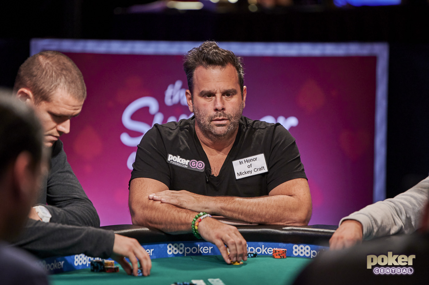 Randall Emmett in action during the 2019 World Series of Poker where he fell just short of his first bracelet.