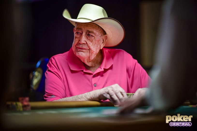 Poker legend Doyle Brunson in action during the 2018 World Series of Poker.